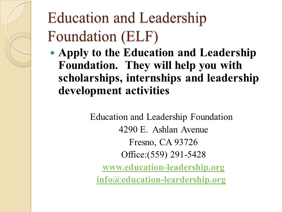 Teaching Fellows Foundation If you are looking for a job or internship, you can also contact the Teaching Fellows Foundation Mike Snell - Executive Director Mike@ctff.us 1177 E.
