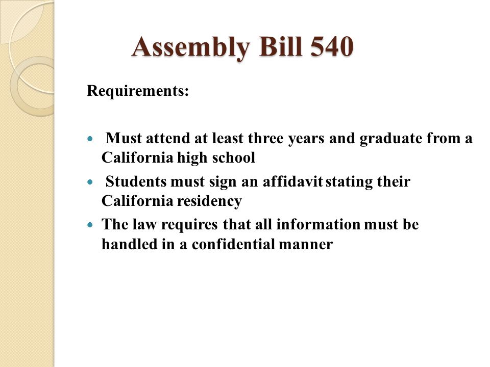 AB2000 This bill ensures that students who graduate early from high school are not later penalized and deemed ineligible for AB 540 benefits.