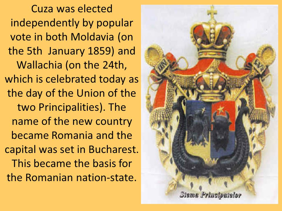 This is whatRomania looked like after the Union of the Two Principalities. (the section in WHITE)