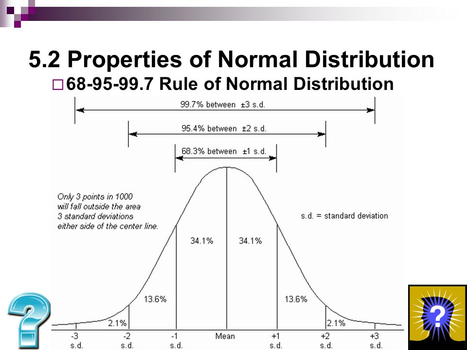 5.2 Properties of Normal Distribution Using 68-95-99.7 Rule for Normal Distribution:  If there are 600 total values.
