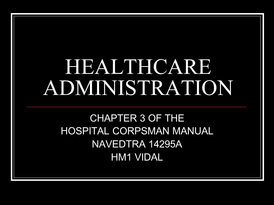 TOPICS Provides information on the function of healthcare programs HMs may be involved in.