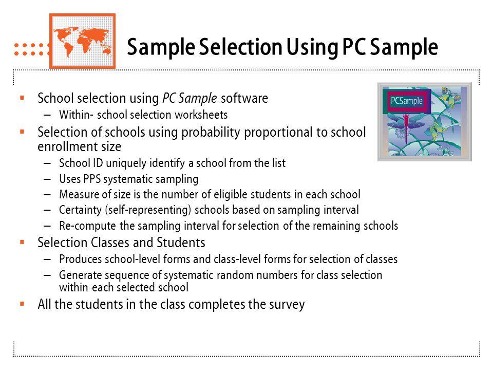 Input files for PC Sample School Enrollment List