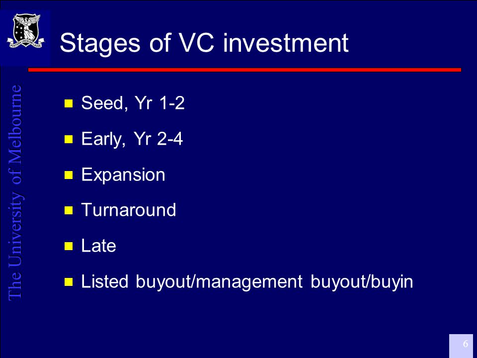 The University of Melbourne 7 VC investment via intermediaries  ABS Report, Nov 2005