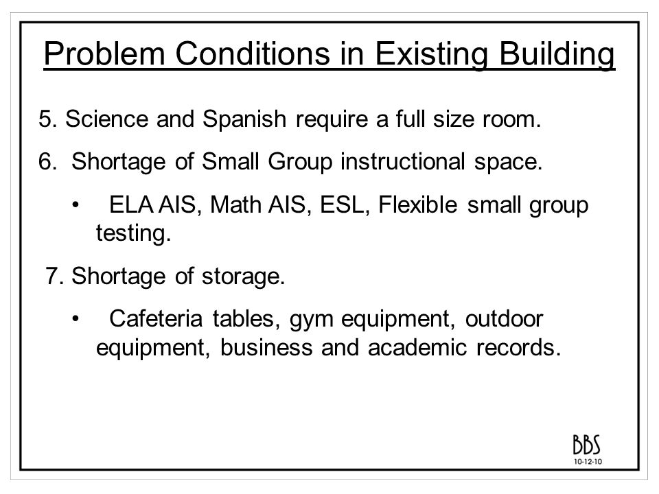 Selected Programmatic Elements 1.New Cafeteria, Kitchen, and associated storage areas.