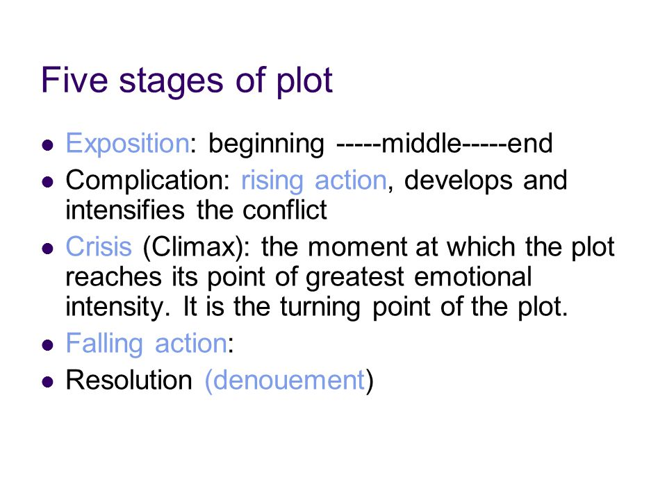 The ordering of plot The customary way of ordering the episodes or events in a plot is to present them chronologically, namely, in the order of their occurrence in time.