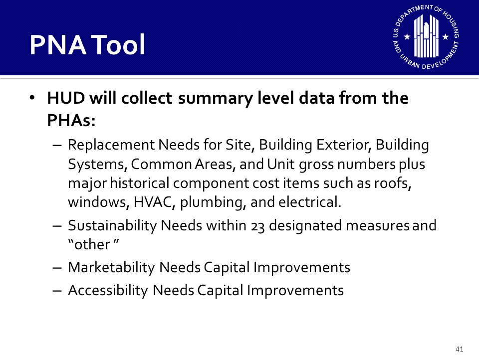 42 How Will HUD Use the Submitted Data.