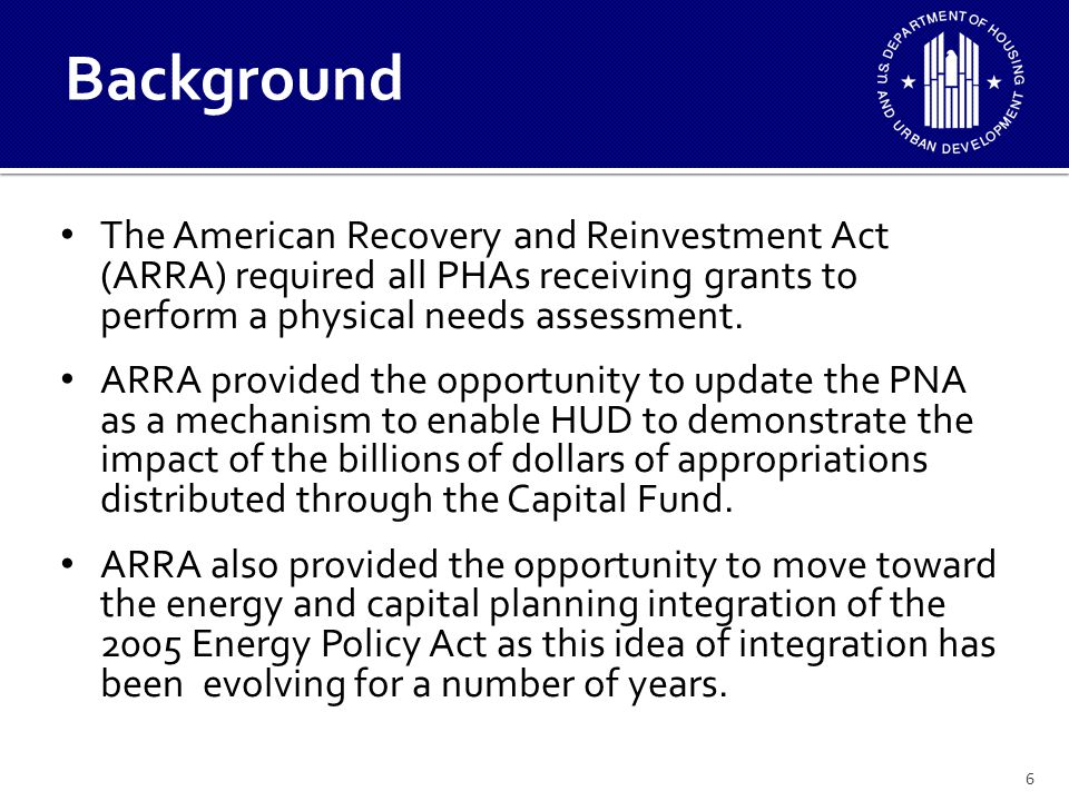 ARRA demonstrated both the capacity for PHAs to implement ECMs, and in the competitive programs the preparedness of PHAs who had good strategic plans in place to successfully compete.