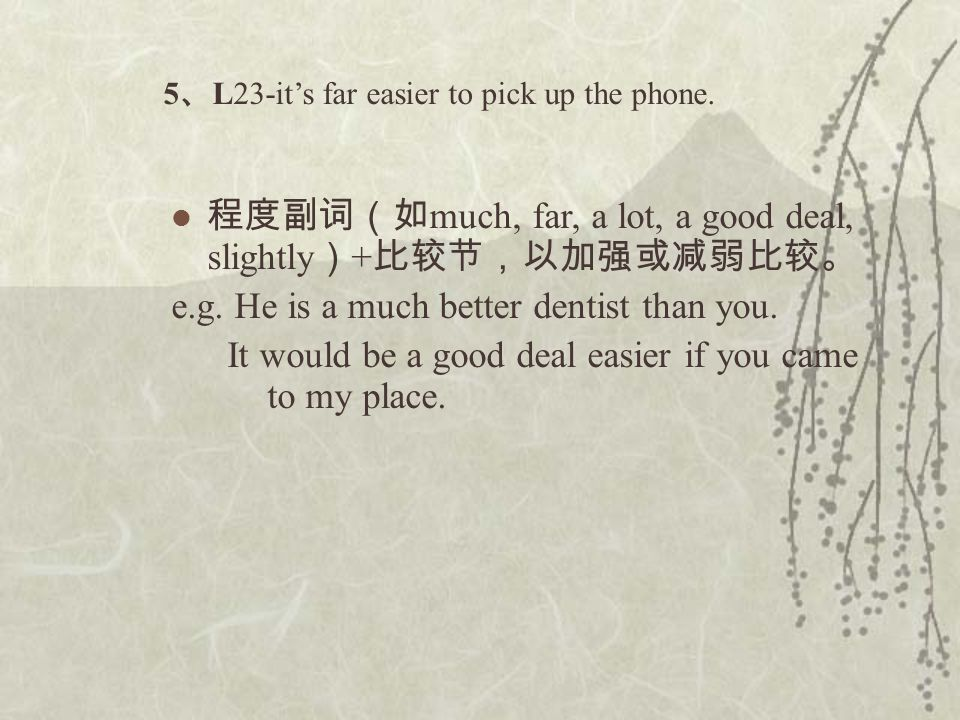 5 、 L23-it's far easier to pick up the phone.