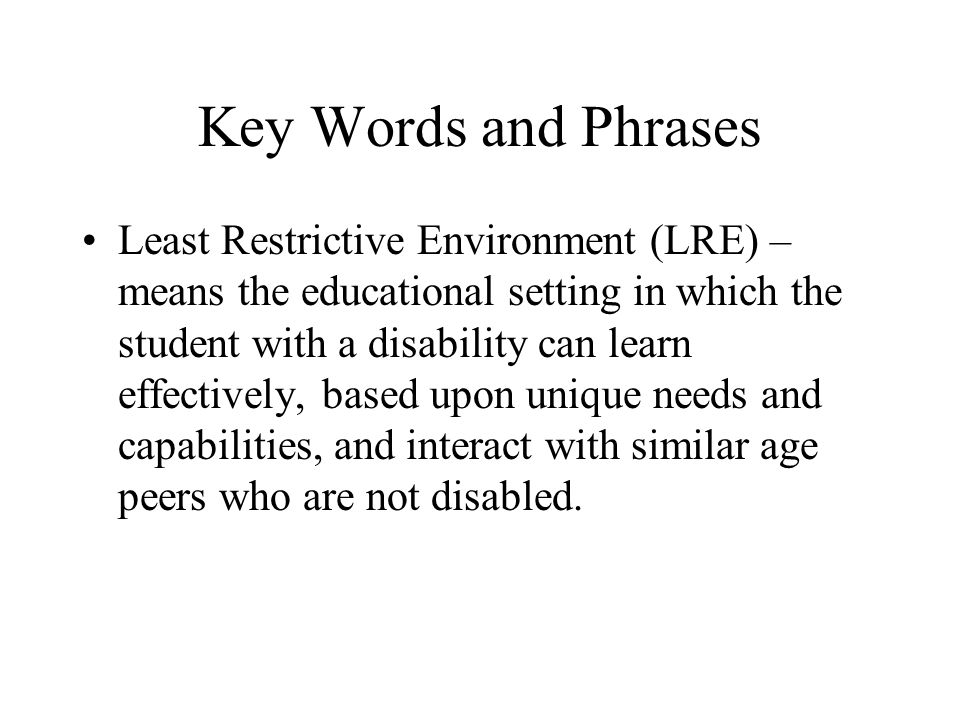 Key Words and Phrases Individual Education Program (IEP) – means a written plan of action developed by an Admission and Release Committee (ARC) to meet the specially designed instruction and related service needs of the student with a disability.