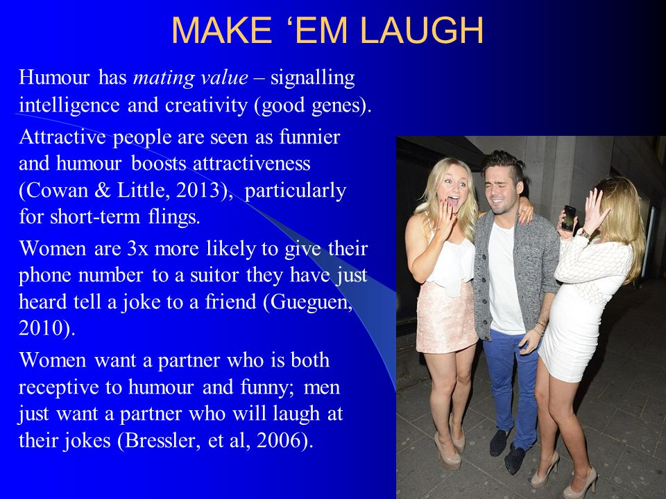 BAD HUMOUR, BAD MARRIAGE Humour style relates to marital satisfaction and divorce (Saraglou et al, 2010).