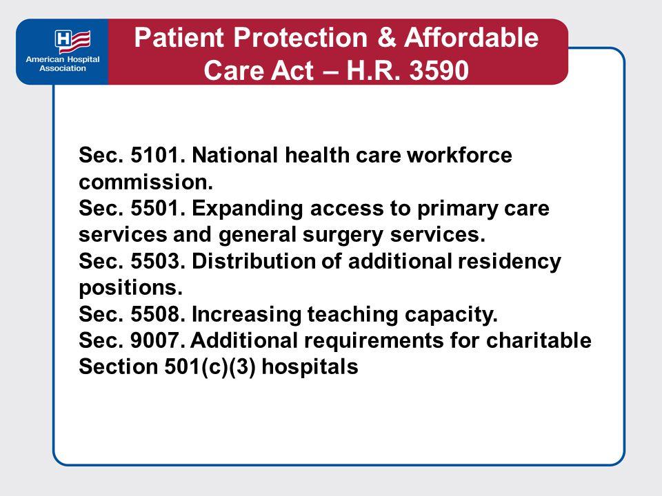 Select Major Provisions Sec.3001. Hospital Value-Based purchasing program Sec.