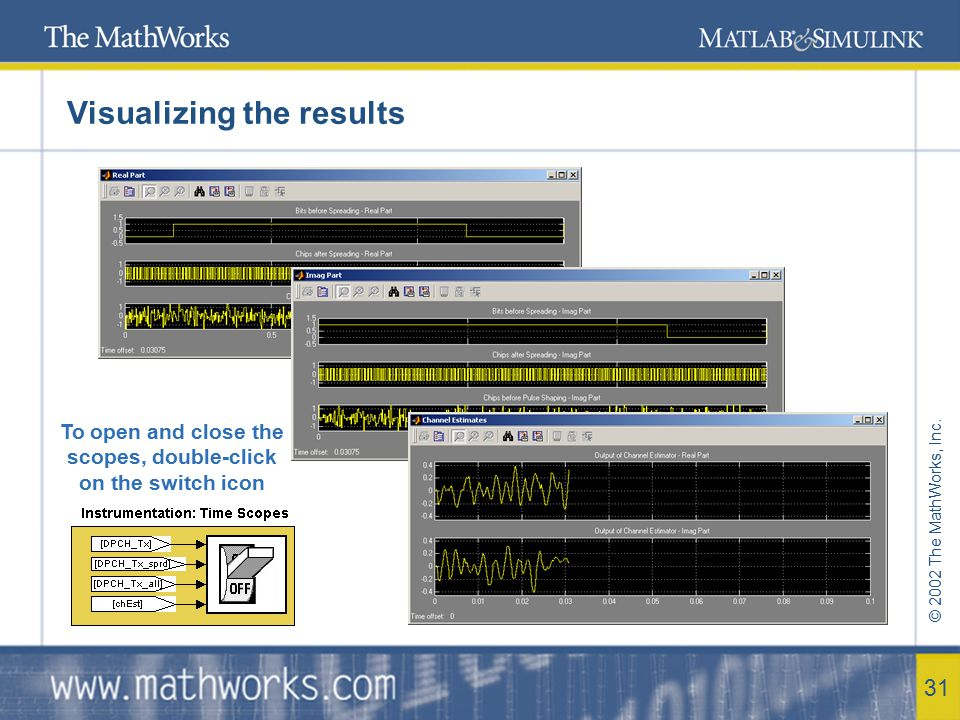 © 2002 The MathWorks, Inc. 32 Enhancements