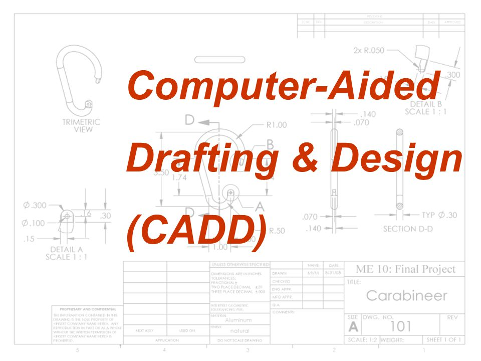 Computer-aided drafting and design (CADD) is the computer process of making engineering drawings and technical documents more closely related to drafting.