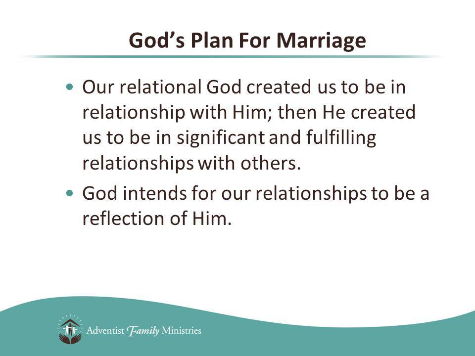 1.Covenant God's intent is that the relationship between husband and wife be modeled after His endless covenant with his people.