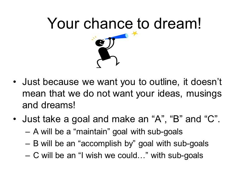 Dare to dream.