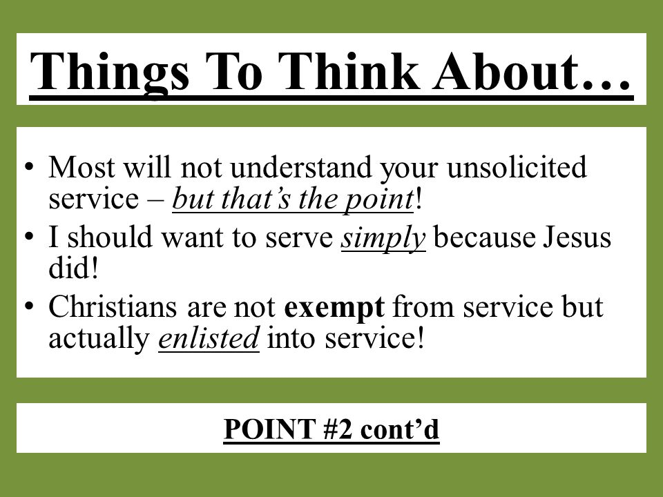 POINT #3 Authenticity will be the barometer of my service in God's eyes.