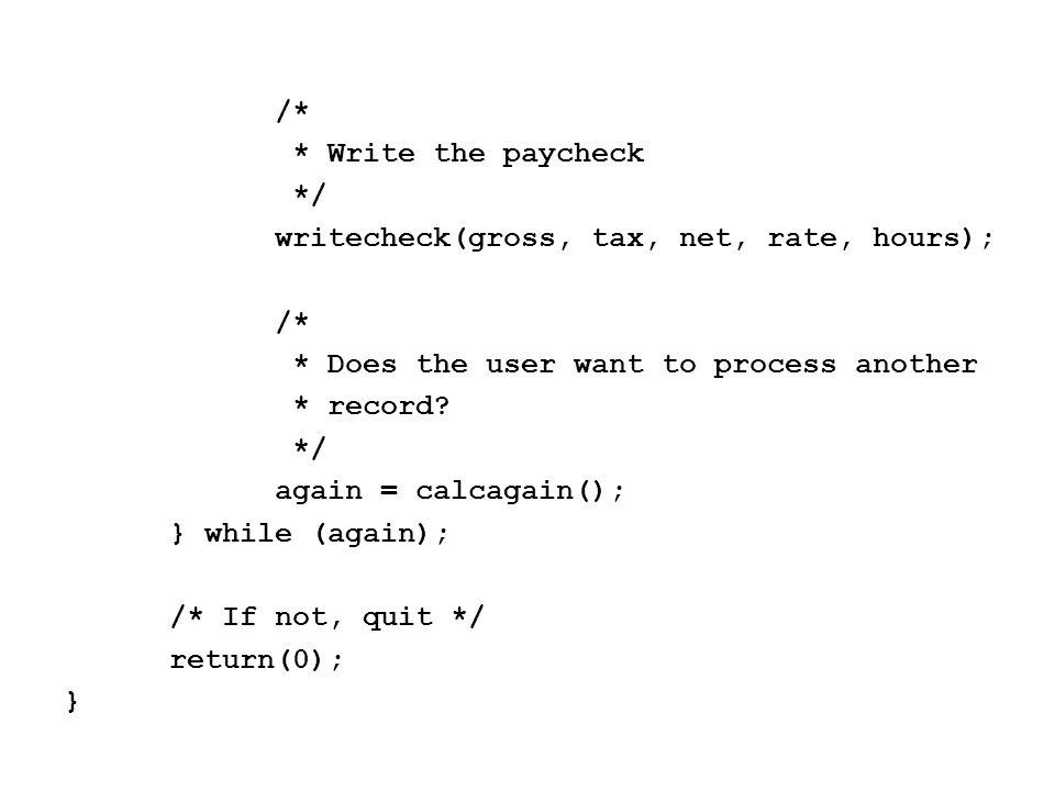 /* * getbrackets() - Input the tax brackets * We need the minimum gross for the tax * bracket, and the tax rate itself */ void getbrackets(struct brackettype brackets[]) { int i; for (i = 0; i < NumBrackets; i++) { printf( What is the maximum income for bracket #%d?\t , i+1 ); scanf( %f , &brackets[i].minsalary);
