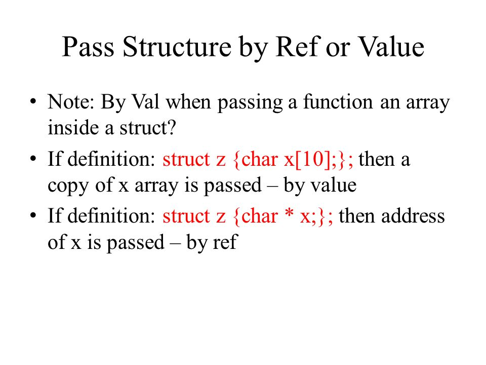 Union Same definition syntax as structure but holds only one of the values.