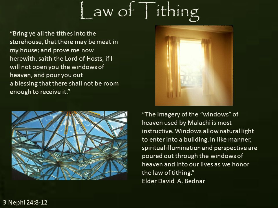 Can I Afford to Pay My Tithing.3 Nephi 24:8-12 We can pay our tithing.