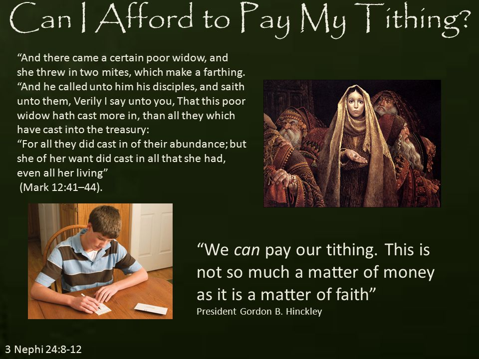 Where Does My Tithing Go.