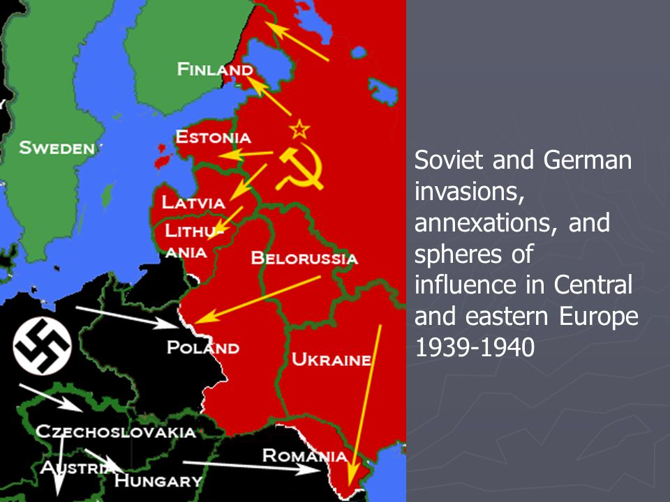 Hitler Invades the Soviet Union  Germany invades an unprepared Soviet Union in June 1941  Soviet troops burn land as they retreat; Germans move into Russia  Germans stopped at Leningrad, forced to undertake long siege  Germans almost capture Moscow, but forced to pull back