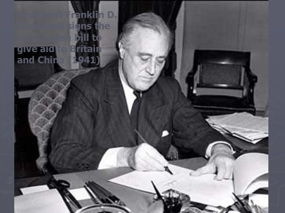 The United States Aids Its Allies  Roosevelt and Churchill meet, issue statement of principles  Atlantic Charter— supports free trade, right to form own government