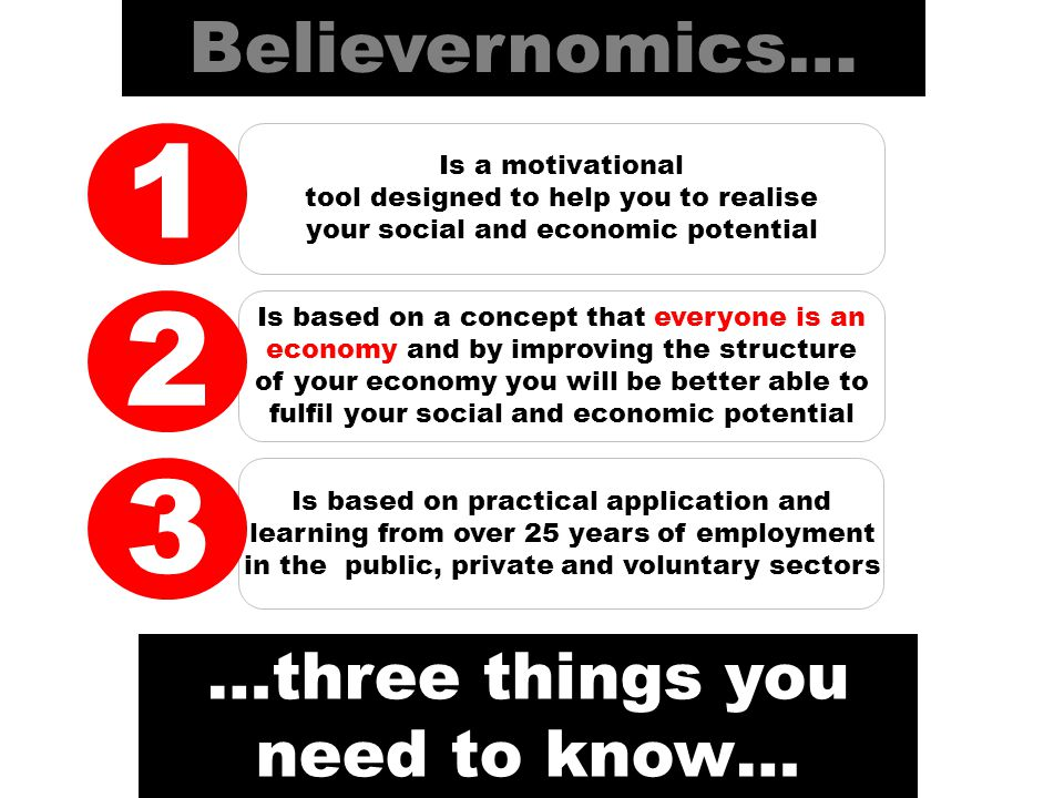goals Setting goals helps to increase your economic confidence and optimism standards Standards are your economic model.