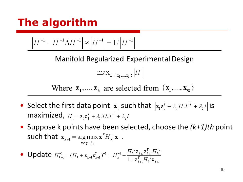  Consider feature space F induced by some nonlinear mapping φ, and =K(x i, x i ).