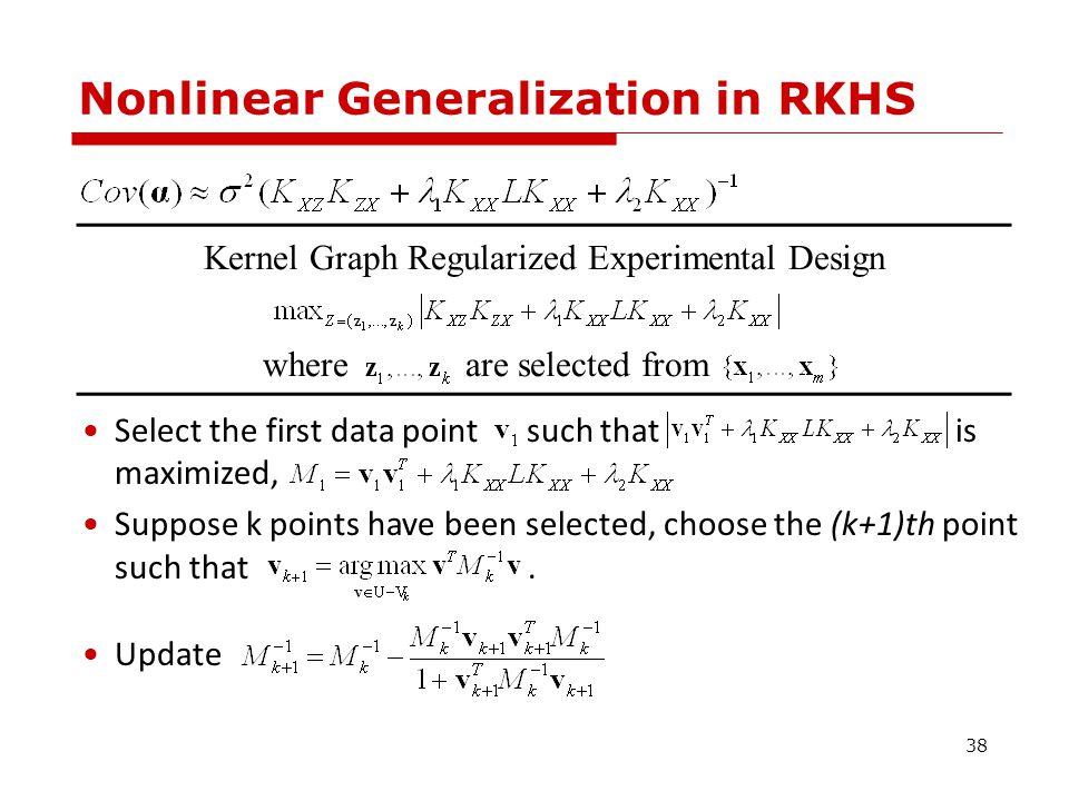 A Synthetic Example A-optimal Design Laplacian Regularized Optimal Design 39