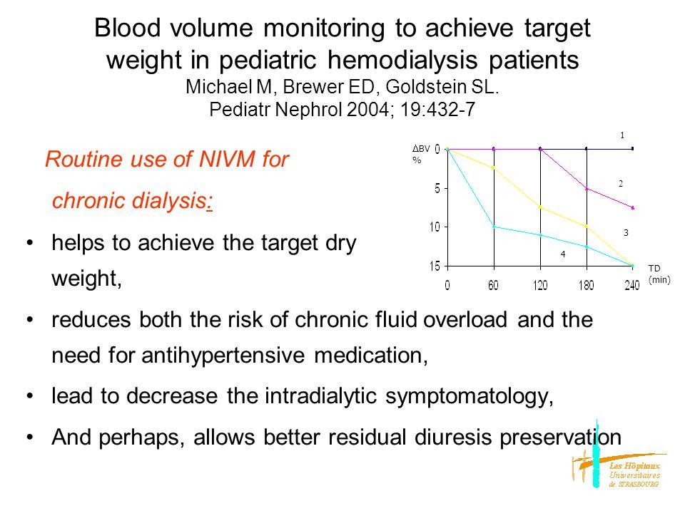 Non-invasive intravascular monitoring (Ht) in the pediatric population Jain SR et al.