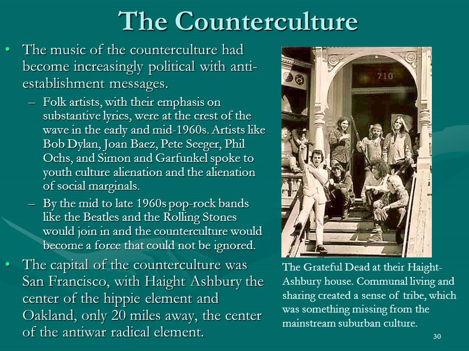 31 The Counterculture Drugs represented another countercultural sacrament.