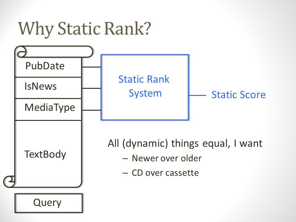 Why Static Rank.