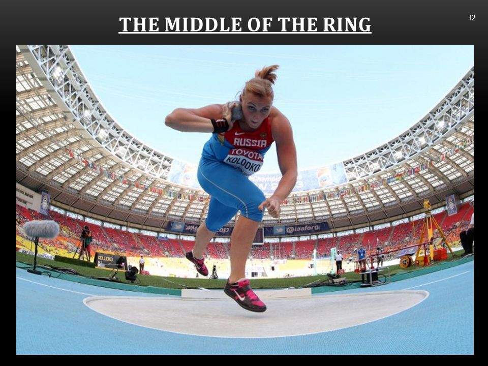 THE MIDDLE OF THE RING 13 The right foot actively moves to land on the toe after it has driven through the heel.