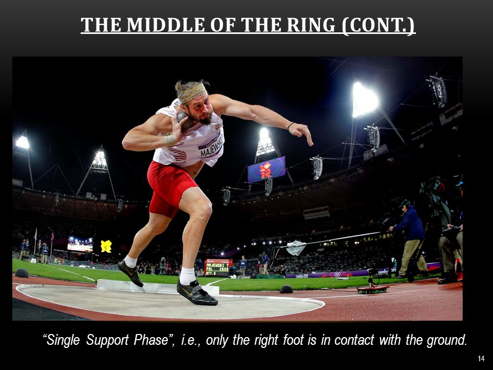 THE MIDDLE OF THE RING (CONT.) 15 The left foot makes contact shortly after the right.