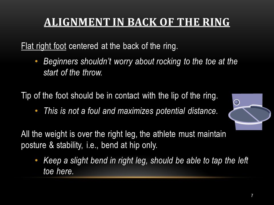 ALIGNMENT IN BACK OF THE RING (CONT.) 8 Left arm is long and relaxed.