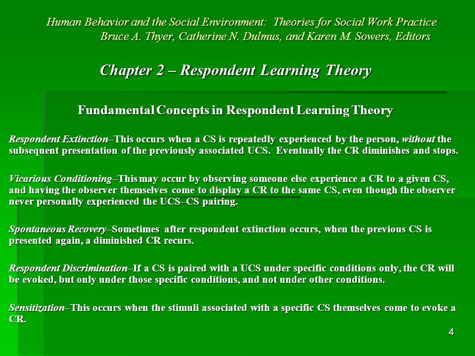 5 Human Behavior and the Social Environment: Theories for Social Work Practice Bruce A.