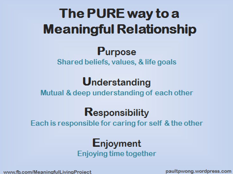 Shared Purpose Do you share the same core values & moral principles.