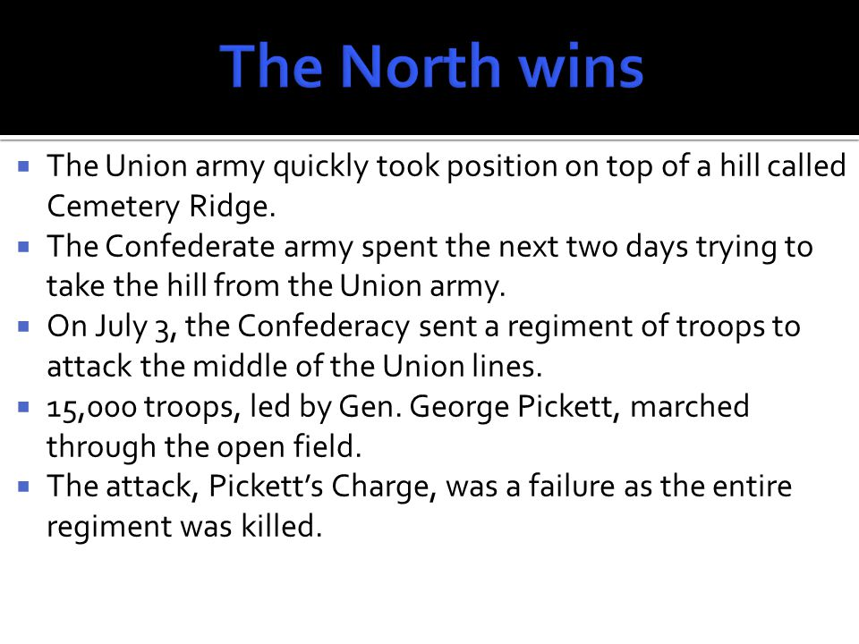  The Confederacy waited for a Union counterattack that never came.