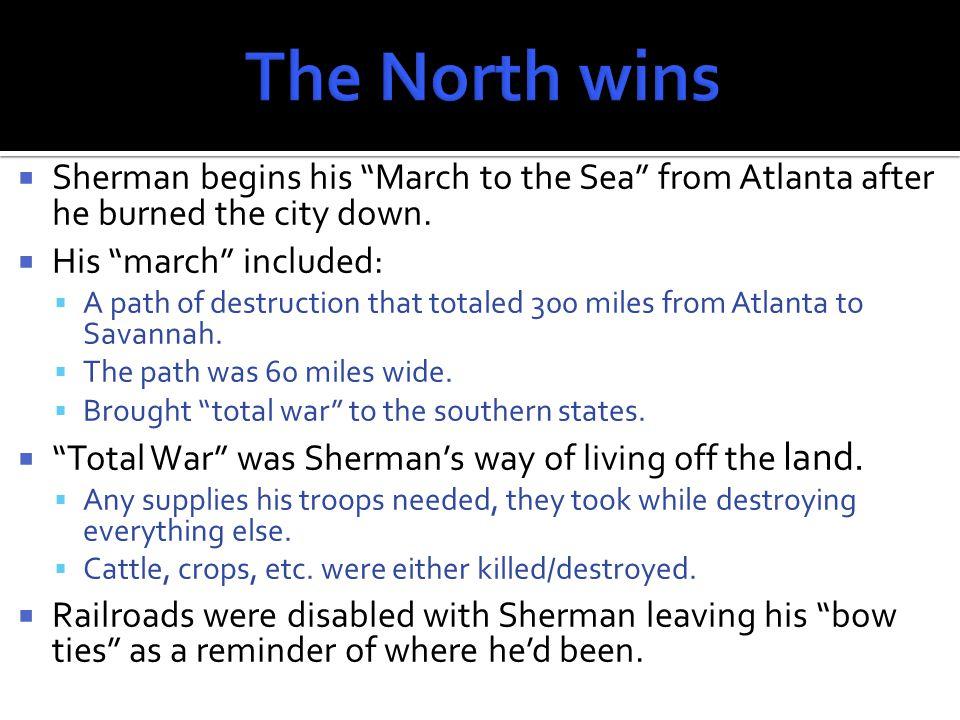  While Sherman was destroying Georgia, Gen.Grant was pursuing Gen.