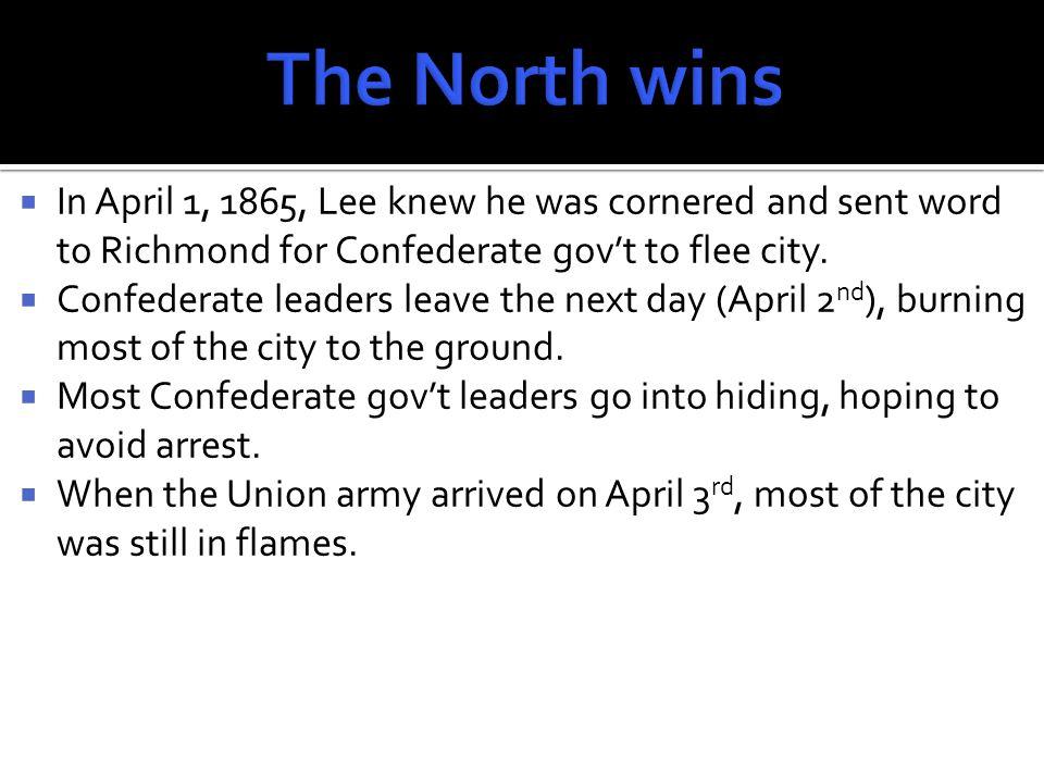  On April 9, 1865, Gen.Lee sent a message to Gen.