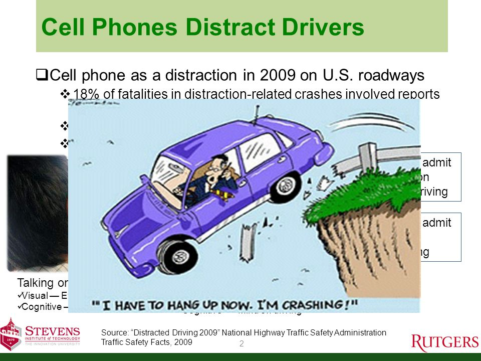 Cell Phones Distract Drivers 3 Do hands-free devices solve the problem.