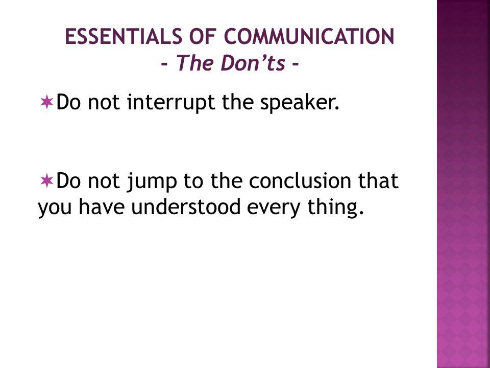 How to Improve Existing Level of COMMUNICATION. Improve language.