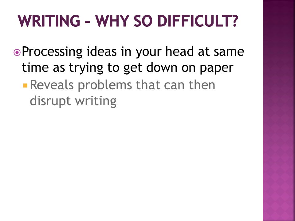  There is no one best way to write.