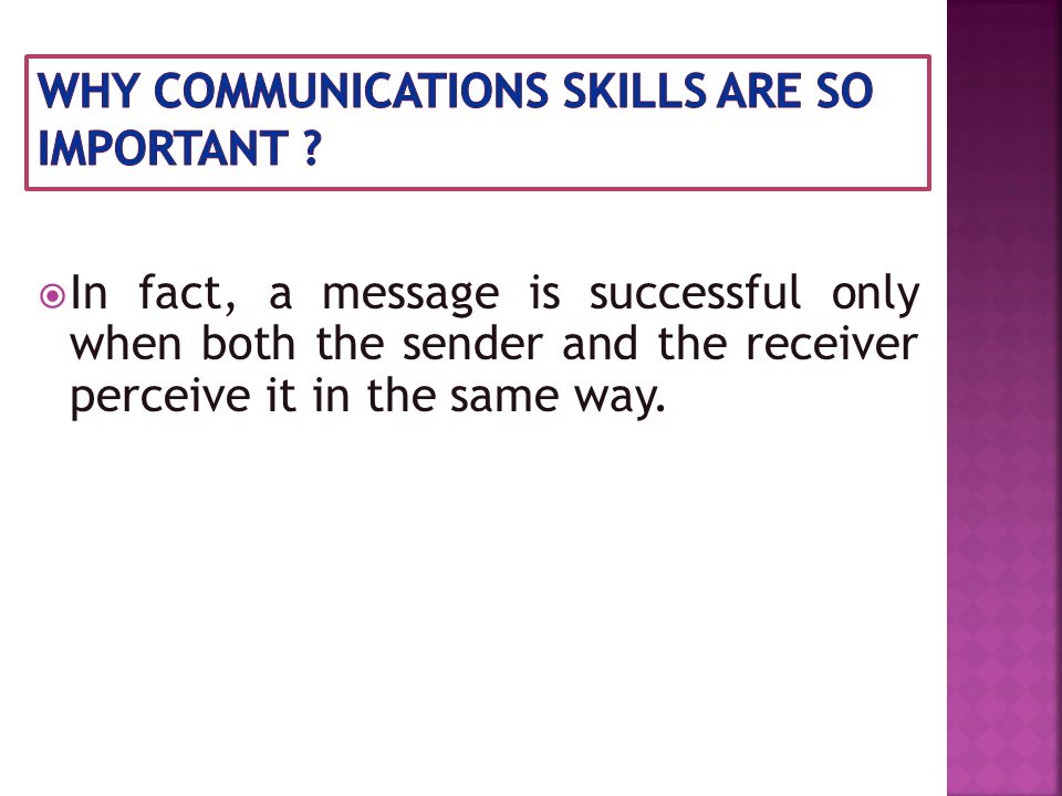  Communication barriers can pop-up at every stage of the communication process (which consists of sender, message, channel, receiver, feedback and context ) and have the potential to create misunderstanding and confusion.