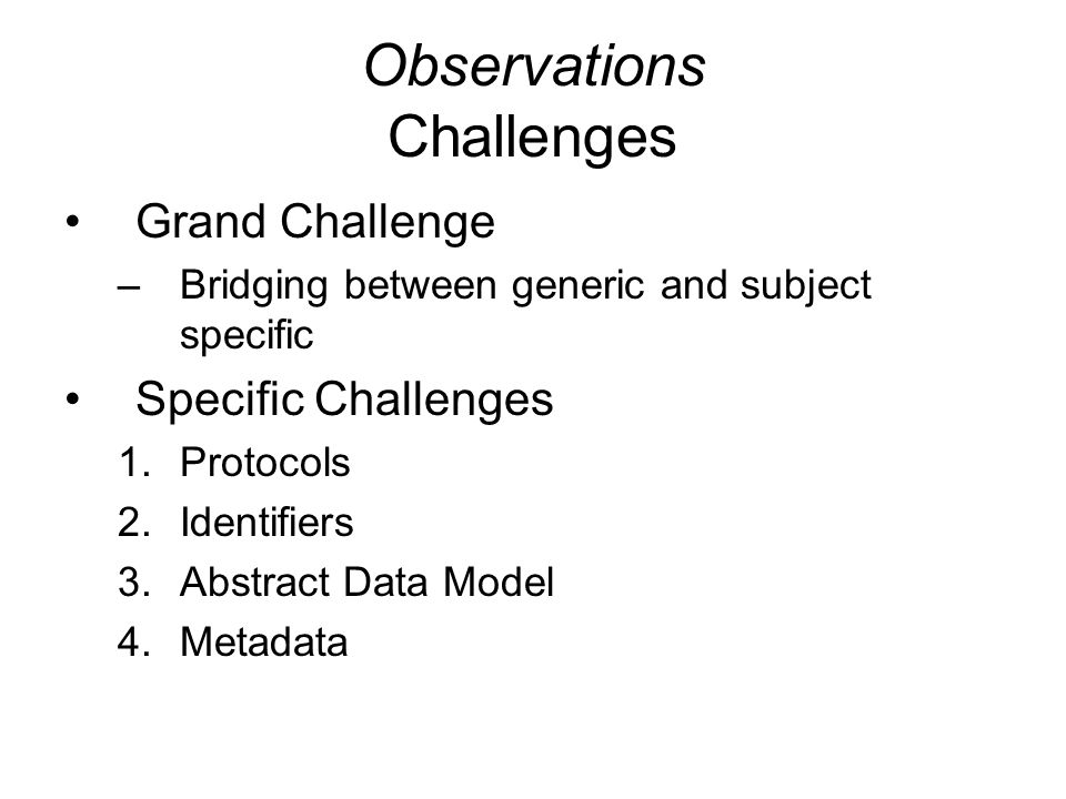 Observations Differing Network Models!.