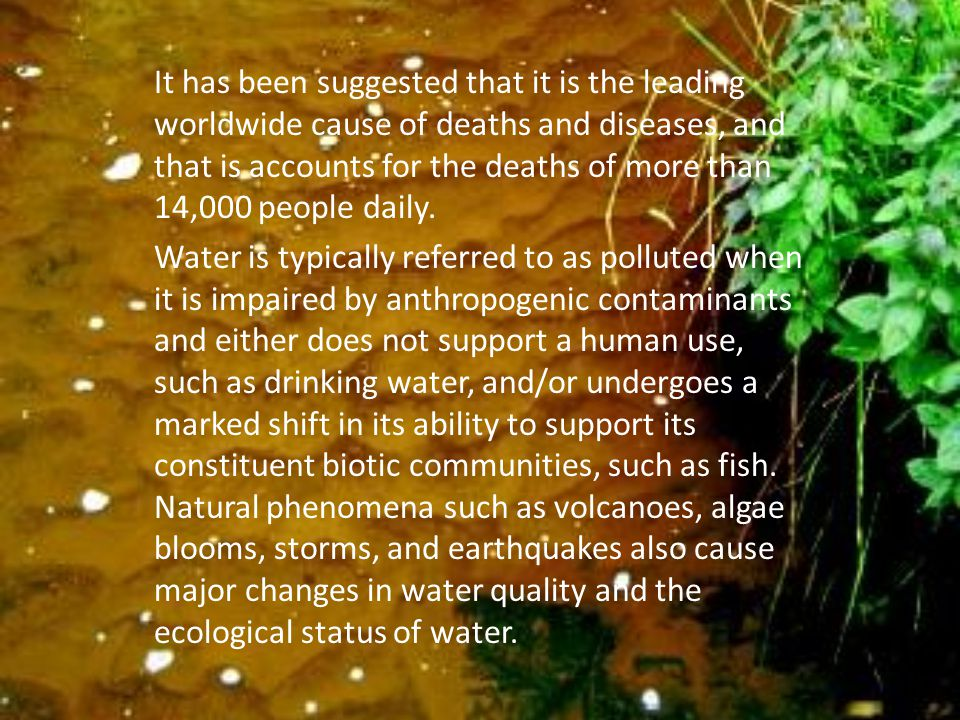 How can we eliminate water pollution.