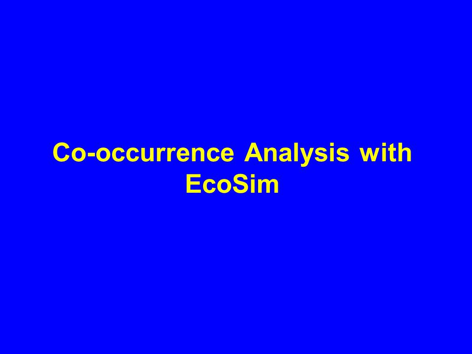 Evaluating Co-occurrence Algorithms Type I error (incorrectly rejecting null) Type II error (incorrectly accepting null)