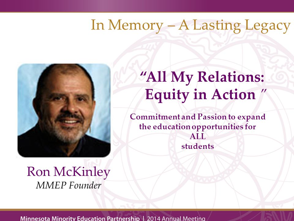 2014 All My Relations: Equity In Action Award