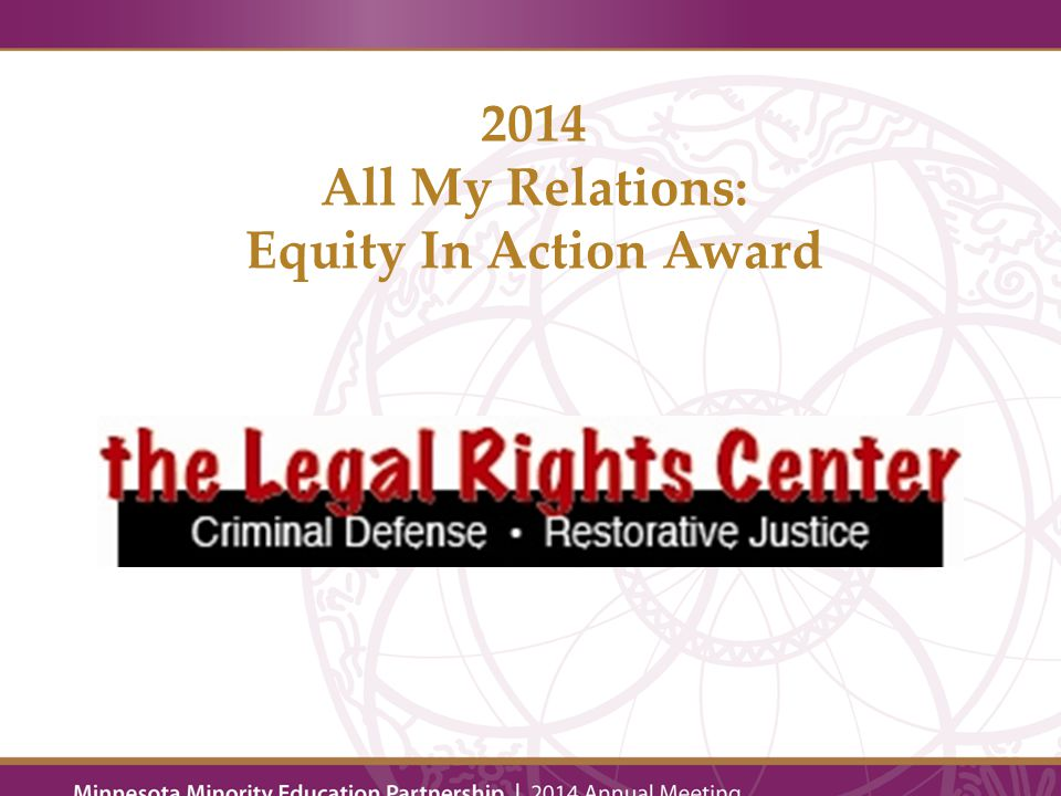 Beth Hawkins 2014 All My Relations: Equity In Action Honorable Mention