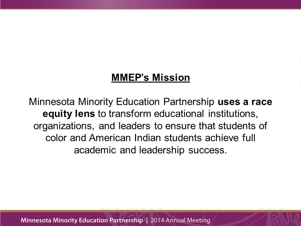 Defining Race Equity Race Equity is a condition.